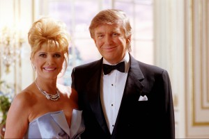 Ivana and Donald Trump filming a Pizza Hut ad in 1995. (Tom Reese photo)